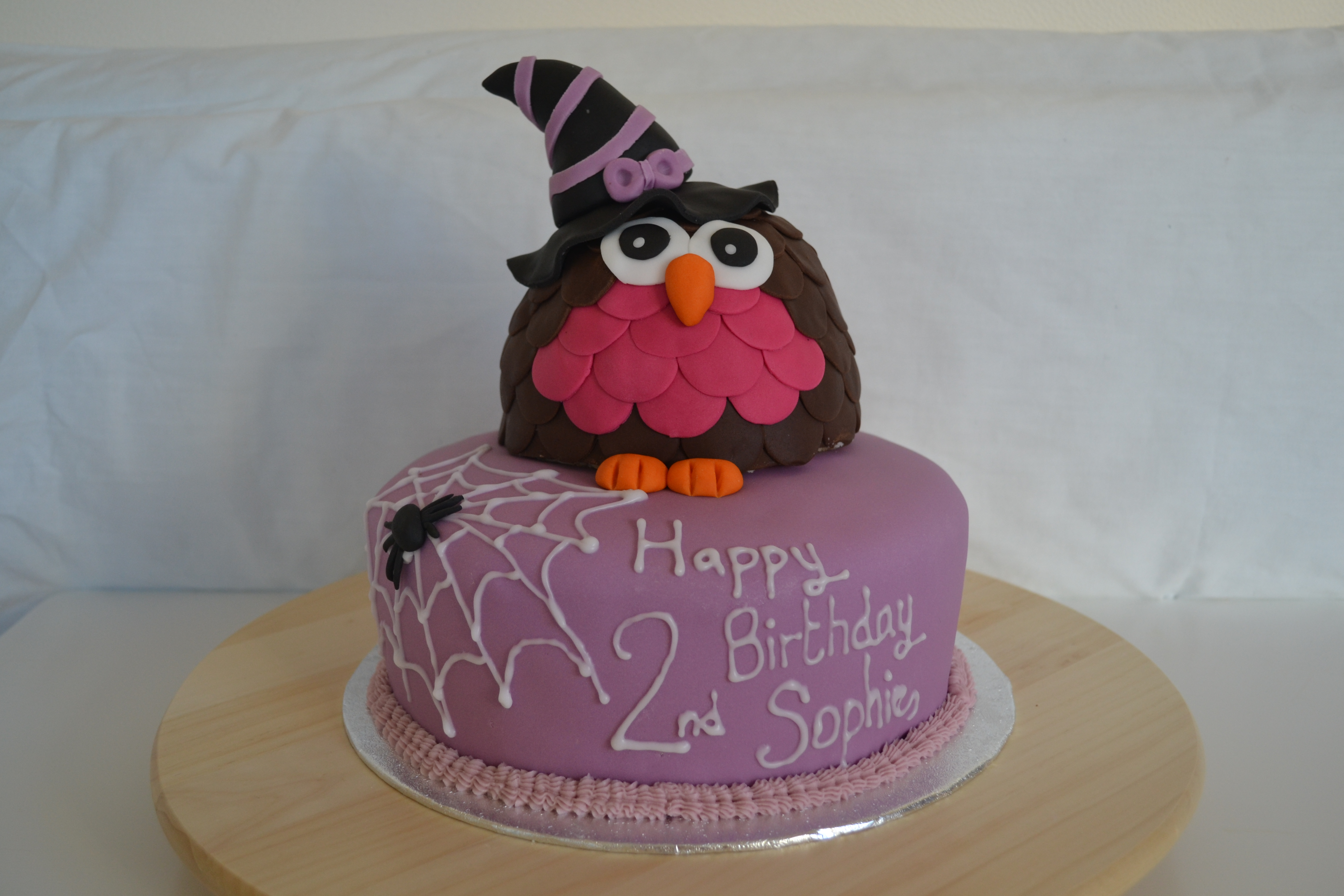 A Gorgeous Halloween Birthday Cake For Lovely Little Girl Who Loves Owls